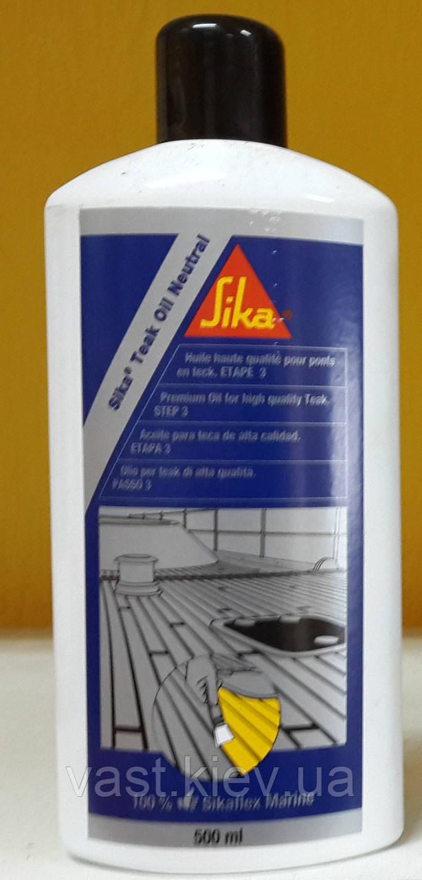 Тиковое масло Sika Teak Oil Neutral / 500 мл