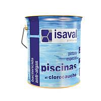 Краска для бассейнов и резервуаров на основе хлоркаучука 4 л, Isaval
