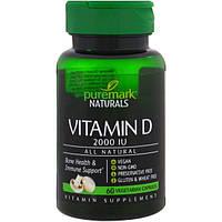 PureMark Naturals, Витамин D, 2000 МЕ, 60 вегетарианских капсул