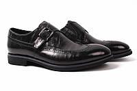 Туфли мужские Basconi натуральная кожа, цвет черный (мокасины, каблук)