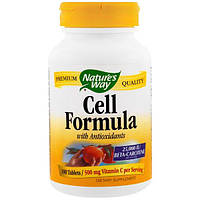 Natures Way, Cell Formula with Anitoxidants, 100 Tablets