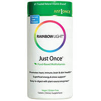 Rainbow Light, Just Once, мультивитамины на основе продуктов питания, 120 таблеток
