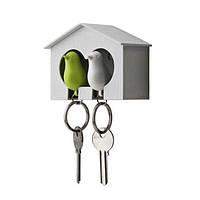 Ключница настенная и брелки для ключей Duo Sparrow Qualy (белый-зеленый)
