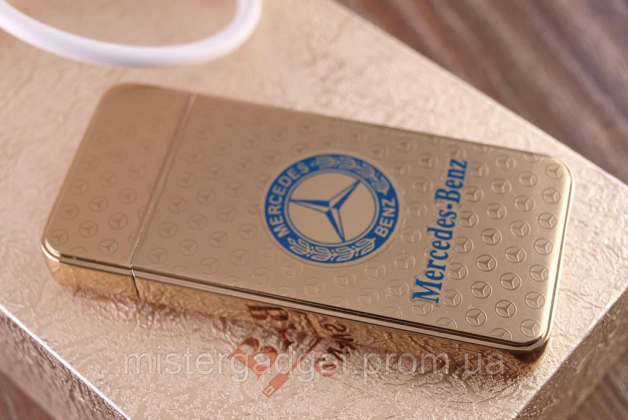 Импульсная зажигалка Mercedes. Подарочная USB зажигалка Мерседес