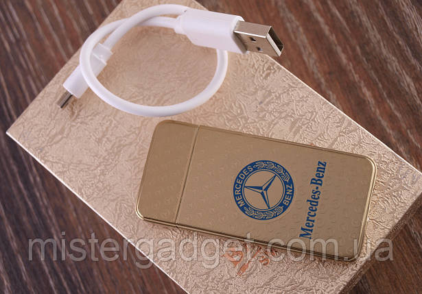 Импульсная зажигалка Mercedes. Подарочная USB зажигалка Мерседес, фото 2