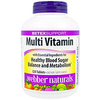 Diabetex, Диабетекс, мультивитаминный комплекс для поддержания здорового уровня сахара в крови, 120 таблеток