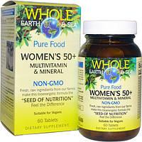 Natural Factors, Пищевая добавка Непочатое море и земля, мультивитаминный и минеральный комплекс для женщин от 50, 60 таблеток