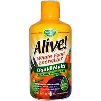 Natures Way, Alive!, Жидкие мультивитамины и минералы, вкус цитруса, 900 мл