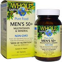 Natural Factors, Пищевая добавка Непочатое море и земля, мультивитаминный и минеральный комплекс для мужщин от 50, 60 таблеток