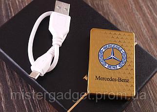 Импульсная зажигалка Mercedes Сдвижная USB зажигалка Мерседес