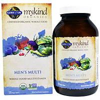 Garden of Life, MyKind Organics, мультивитамины для мужчин, цельный мультивитамин, 120 растительных таблеток