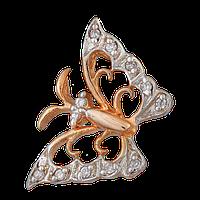 """Серебряная подвеска с позолотой бабочка """"034"""""""