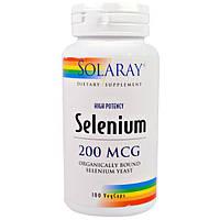 Solaray, Селен, 200 мкг, 100 вегетарианских капсул