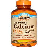 Sundown Naturals, Кальций плюс витамин D3, 1200 мг, 170 гелевых капсул