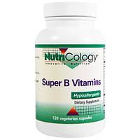 Nutricology, Супер-комплекс витаминов группы B, 120 растительных капсул