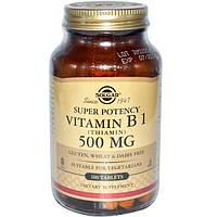 Solgar, Витамин B1 (тиамин), 500 мг, 100 таблеток
