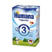 Сухая молочная смесь Humana 3 с пребиотиками, галактоолигосахаридами (ГОС) и яблоком, 300 г 078371 ТМ: Humana
