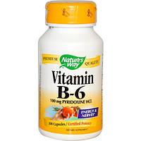 Natures Way, Витамин B6, 100 капсул