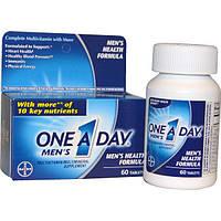 One-A-Day, One A Day Mens, формула здоровья для мужчин, мультивитамины/мультиминералы, 60 таблеток
