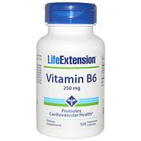 Life Extension, Витамин B6, 250 мг, 100 растительных капсул