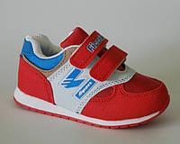 Детские кроссовки р.23,24,25,27 для девочек на весну лето и осень красные с липучками, выносливые
