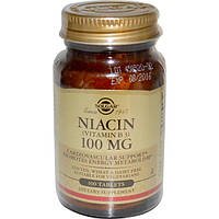Solgar, Niacin, 100mg, 100 Tablets