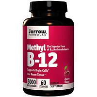 Jarrow Formulas, Метил В-12 со вкусом вишни, 5 000 мкг, 60 пастилок