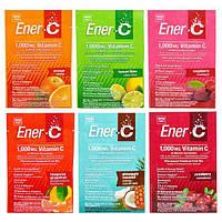 Ener-C, Витамин C, порошкообразная шипучая смесь для питья, ассорти, 6 пакетов