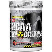 MuscleMaxx, BCAA Apocalypse, Разминка перед тренировкой, B12 + глутамин + таурин, со вкусом красного пунша напалм, 500 г (17,63 унции)