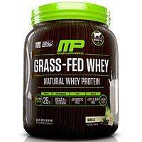 MusclePharm Natural, Сыворотка из молока коров на подножном корме, смесь для приготовления напитка с натуральным сывороточным протеином, ваниль, 0,93