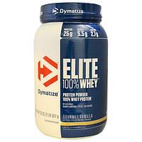 Dymatize Nutrition, Elite, 100-ный Сывороточный Протеин, Ваниль, 32 унции (907 г)