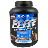 Dymatize Nutrition, Elite, 100-ный Сывороточный Протеин, Шоколадный Торт, 5 фунтов (2,27 кг)