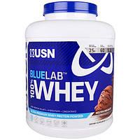 USN, Синяя этикетка 100% сывороточный белок со вкусом плавленого шоколада, 4,5 фунта (2041 г)