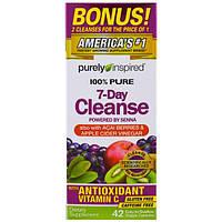 Purely Inspired, 7-дневная очистка, 42 легко проглатываемых капсулы в растительной оболочке