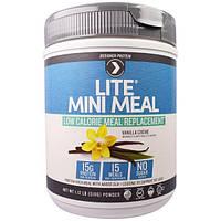 Designer Protein, МиниПитание, низкокалорийный заменитель еды, порошок, ванильный крем, 1,12 фунта (510 г)