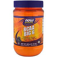 Now Foods, Спортивная добавка, аминокислота с разветвлнной цепью (BCAA) 6, натуральный виноградный ароматизатор, 21,16 унции (600 г)