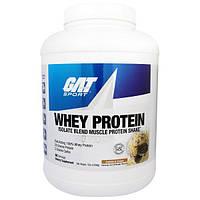 GAT, Изолят Сывороточного Протеина, Белковый Коктейль для Наращивания Мышечной Массы, Печенье со Сливками, 5 фунтов (2268 г)