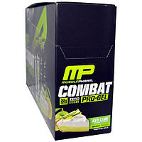 MusclePharm, Combat, Pro-Gel, Key Lime, 12 Protein Gels, 1.21 lbs (552 g)