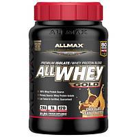 ALLMAX Nutrition, AllWhey Gold, 100% сывороточный протеин+ премиум-изолят сывороточного протеина, шоколад и арахисовое масло, 2 фунта (907 г)