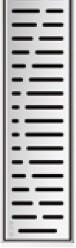 Решетка Волна ACO ShowerDrain E-Line 800 мм
