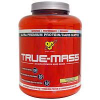 BSN, True-Mass, смесь для приготовления напитков из порошкового белка и углеводов, печенье и сливки, 5,82 фунта (2,64 кг)