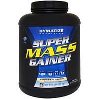 Dymatize Nutrition, Супер белково-углеводная смесь для набора массы, Печенье и сливки, 6 фунтов (2,7 кг)