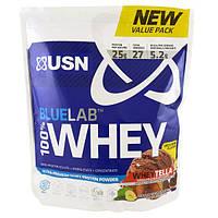 USN, BlueLab, 100% сывороточный протеин, со вкусом WheyTella, 2 фунта (918 г)