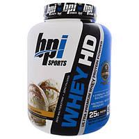 BPI Sports, Whey HD, ультра премиальный сывороточный протеиновый порошок, ванильная карамель, 4,1 фунта (1850 г)