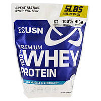 USN, 100% премиальный сывороточный протеин, праздничный пирог, 5 фунтов (2,27 кг)