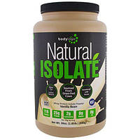 Bodylogix, Натуральный порошковый изолят сывороточного протеина, стручок ванили, 30 унций (840 г)
