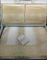 Комплект постельного белья Gelin Home + покрывало Pinar Розовый евро