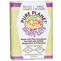 Pure Planet, Добавка с Розовой Гималайской солью для занятий спортом, 1000 мг, 30 растительных капсул
