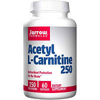 Jarrow Formulas, Ацетил L-карнитин, 250 мг, 60 капсул