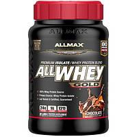 ALLMAX Nutrition, AllWhey Gold, 100% сывороточный протеин+ Премиум изолят сывороточного протеина, шоколад, 2 фунта (907 г)
